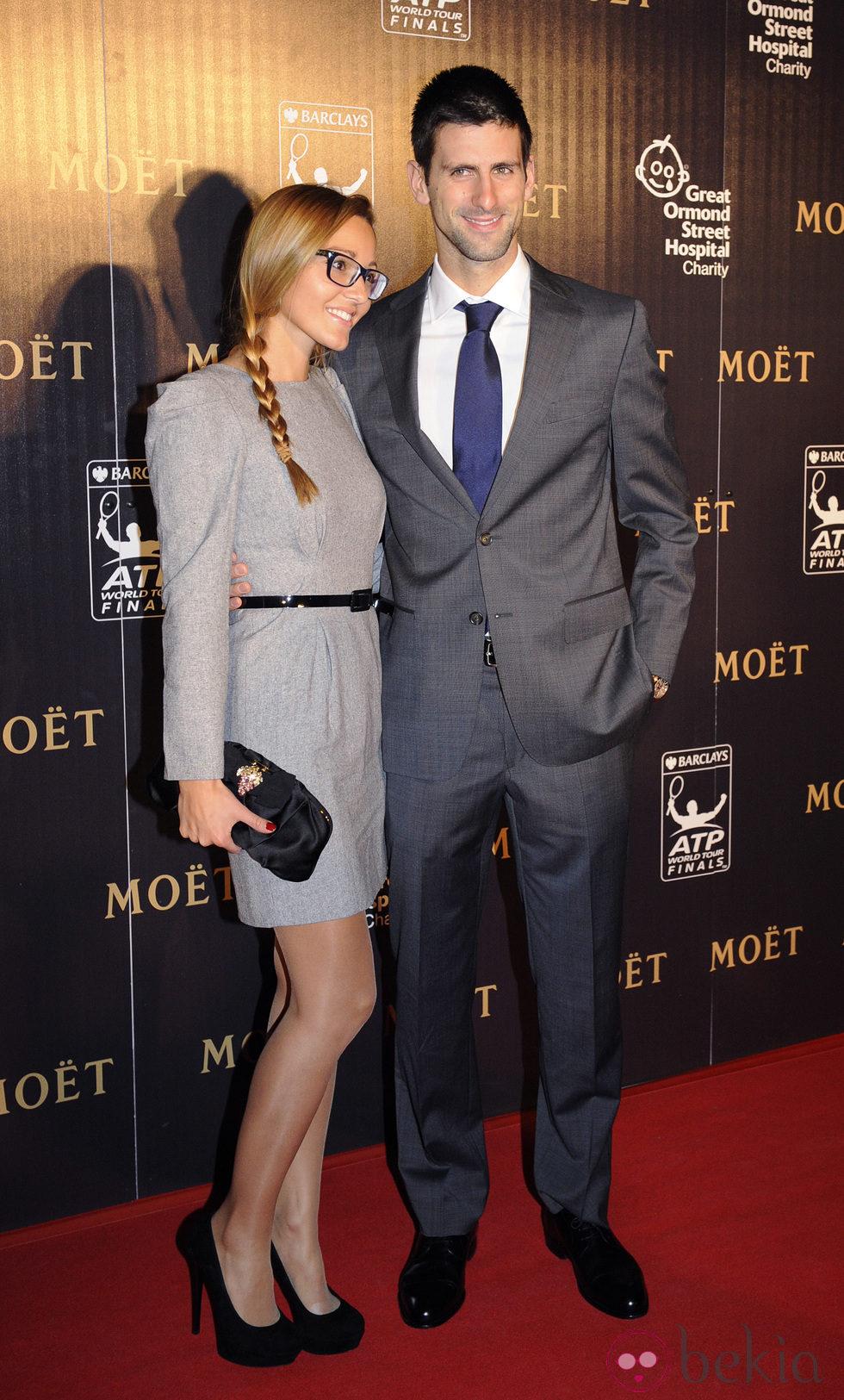 Novak Djokovic y Jelena Ristic en Londres