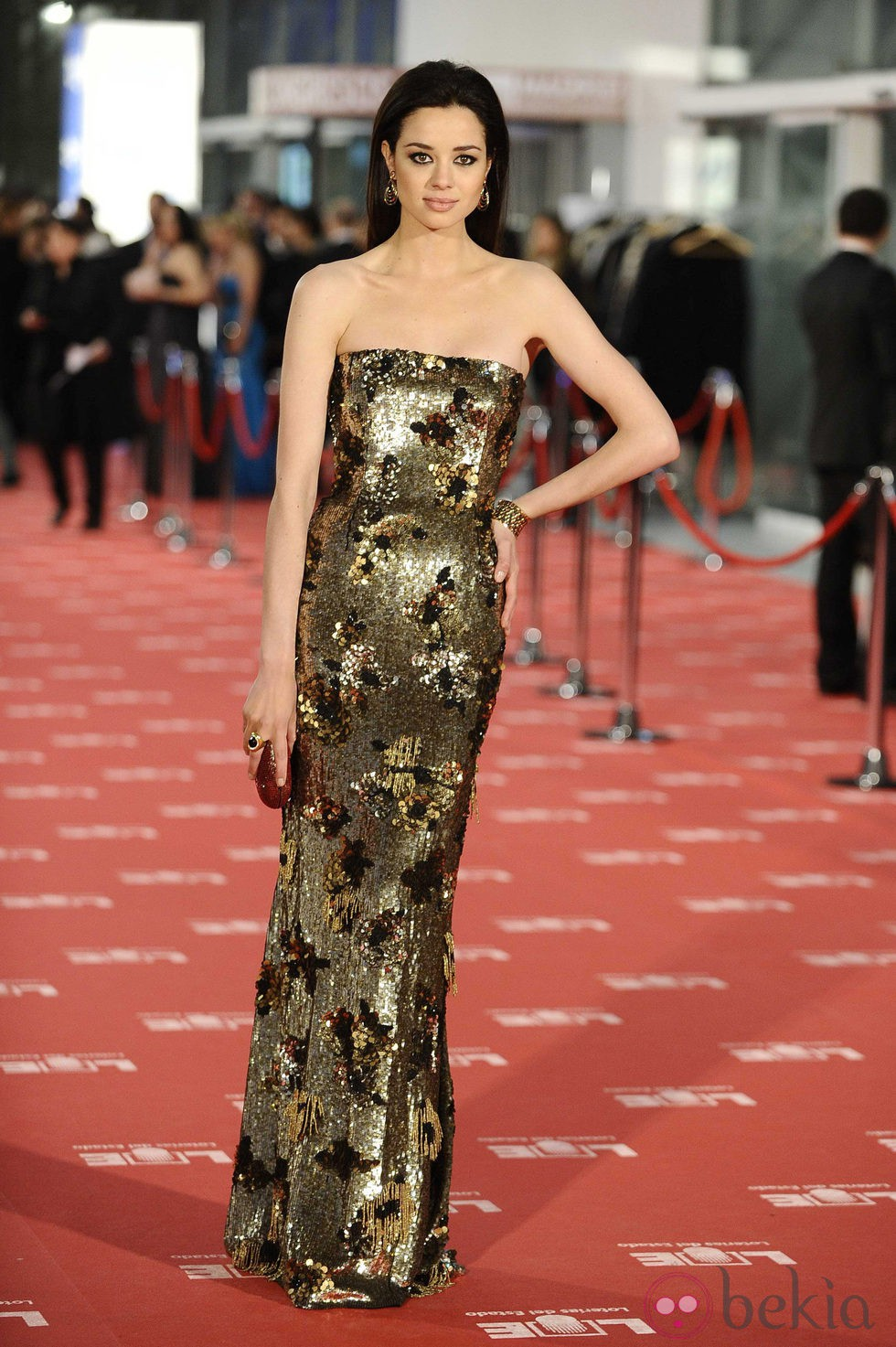 Dafne fern ndez en la alfombra roja de los goya 2012 - Los fernandez alfombras ...