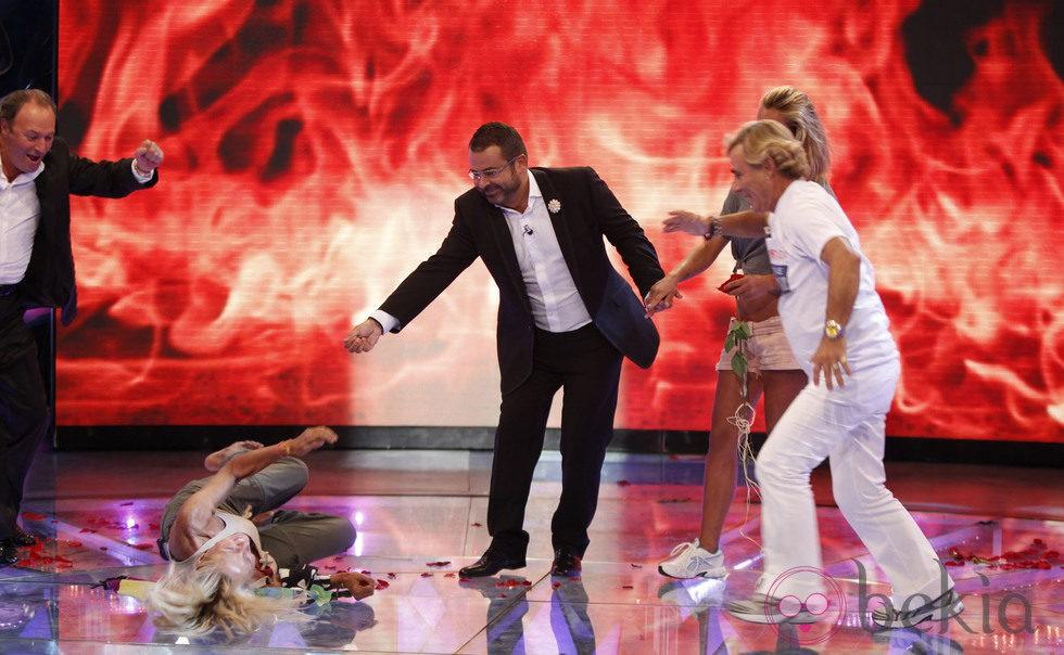 Rosa Benito por los suelos tras ganar 'Supervivientes 2011'