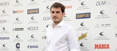 Iker Casillas en un torneo benéfico de padel en Madrid