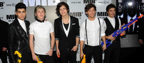 El grupo One Direction en la premiere de 'Men In Black 3' en Nueva York