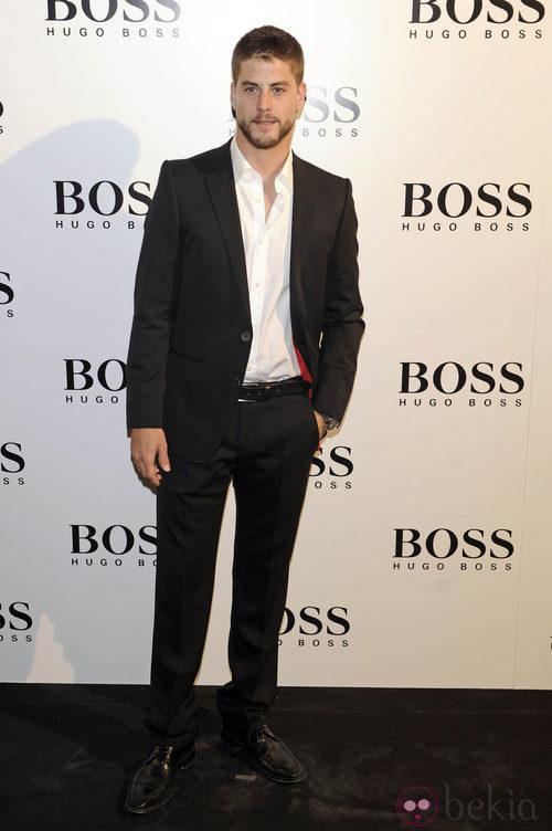 Luis Fernández en la fiesta organizada por la firma Hugo Boss