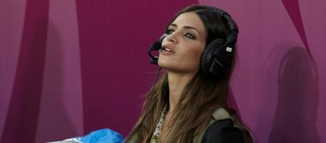 Sara Carbonero en el partido que enfrentó a España y Croacia en la Eurocopa 2012