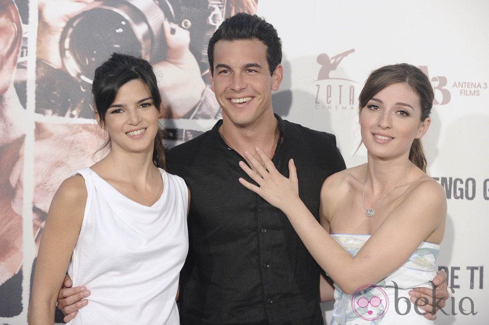 Clara Lago, Mario Casas y María Valverde en la presentación de 'Tengo ganas de ti'