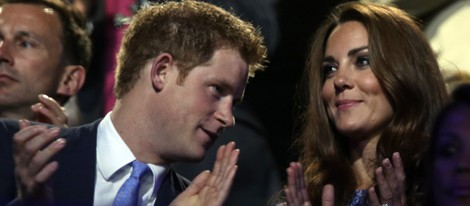 El Príncipe Harry y la Duquesa de Cambridge en la clausura de Londres 2012