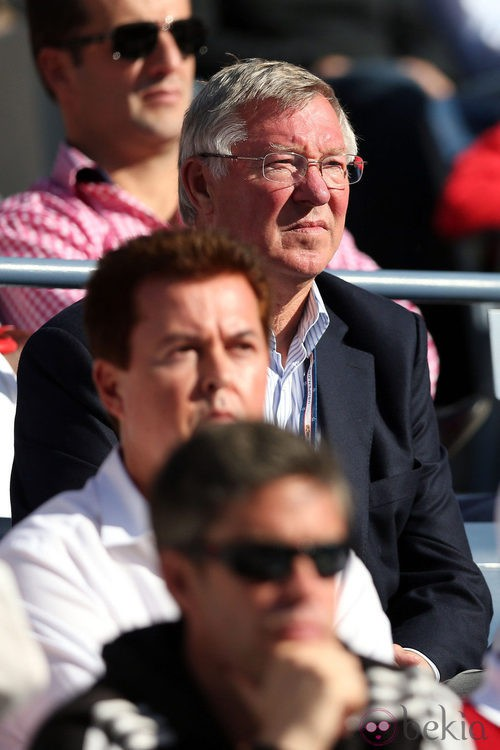 Alex Ferguson, manager del Manchester United, en la final del Grand Slam en el US Open 2012