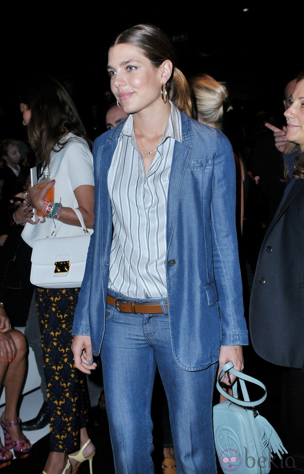 Charlotte Casiraghi on blue jeans