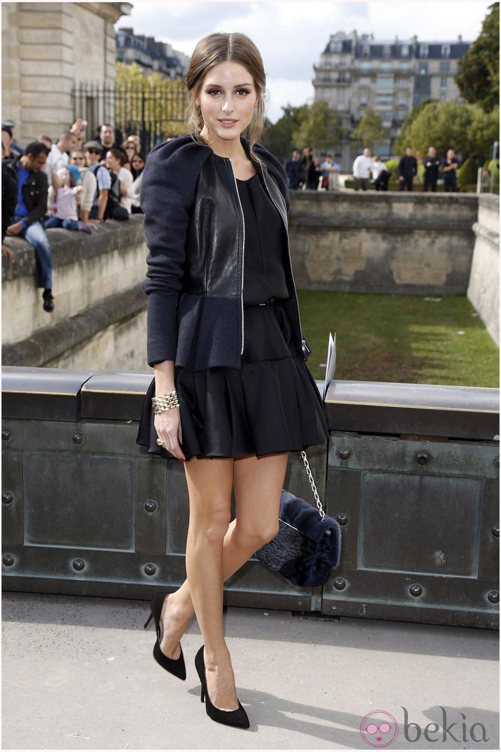 Olivia Palermo en el desfile de Dior de la Semana de la Moda de París