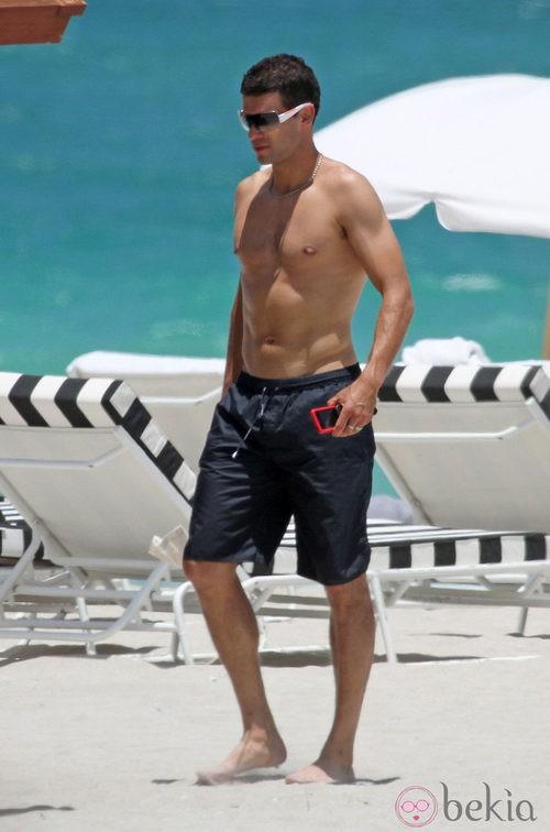 Michael Ballack Luce Torso Desnudo En La Playa
