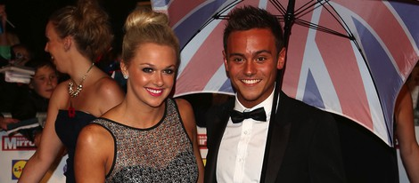Tonya Couch y Tom Daley en un evento