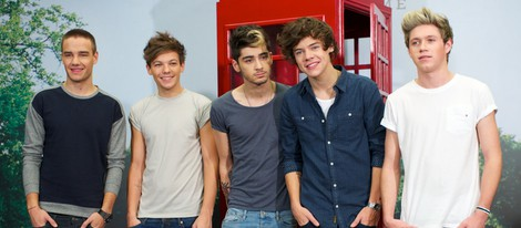 One Direction en la presentación de su disco 'Take me home' en Madrid