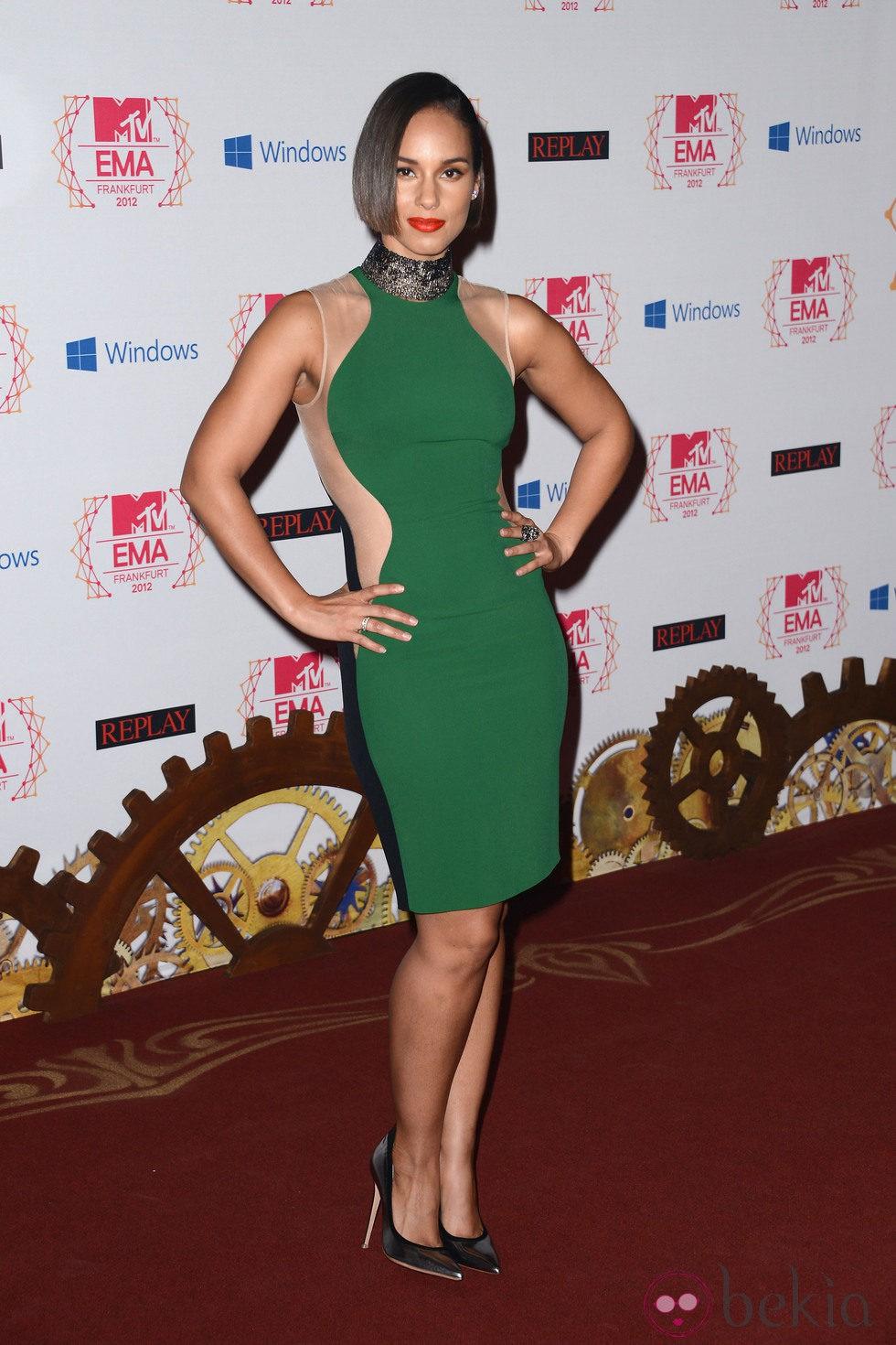 Alicia Keys, de Versace, en los MTV EMA 2012