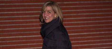 La Infanta Cristina visita al Rey en la Clínica La Milagrosa