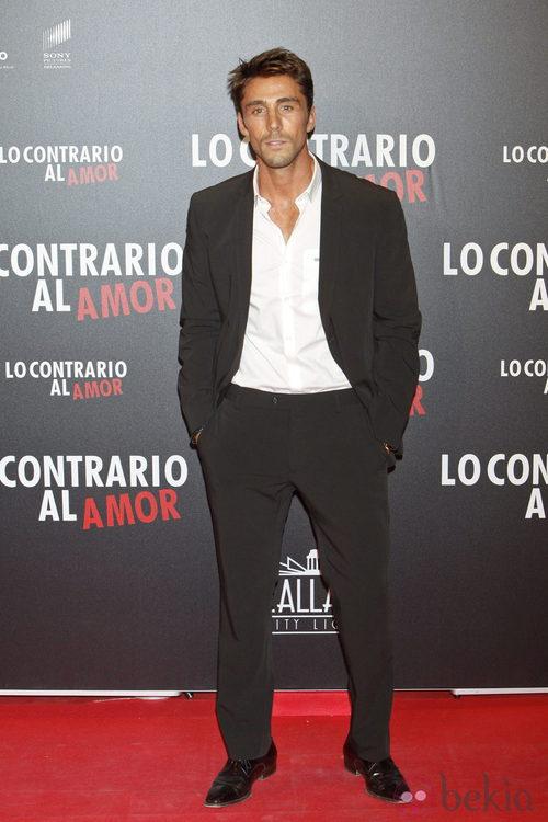 Rubén Sanz en el estreno de 'Lo contrario al amor' en Madrid
