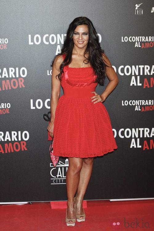 Guadalupe Lancho en el estreno de 'Lo contrario' al amor' en Madrid
