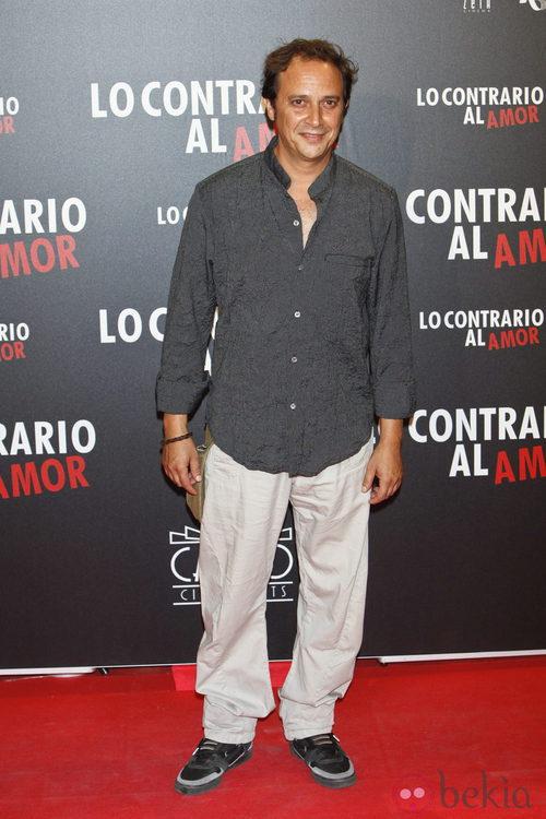 Luis Callejo en el estreno de 'Lo contrario al amor' en Madrid