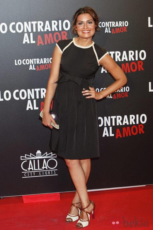 Ledicia Sola en el estreno de 'Lo contrario al amor' en Madrid