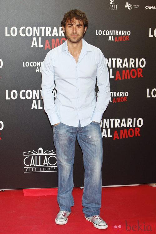 Daniel Muriel en el estreno de 'Lo contrario al amor' en Madrid