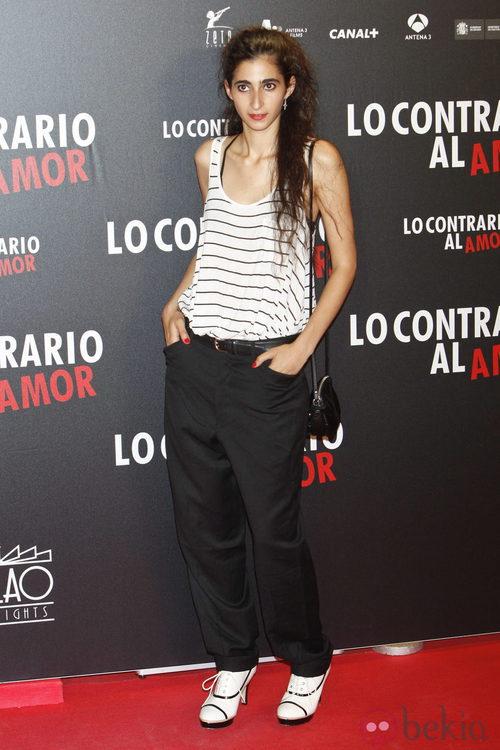 Alba Flores en el estreno de 'Lo contrario al amor' en Madrid