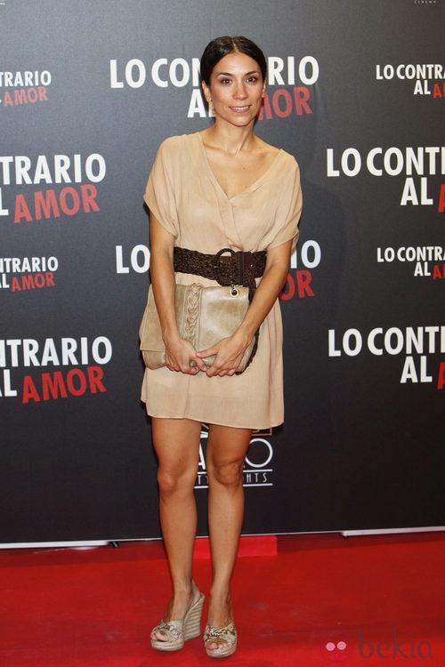 Itziar Miranda en el estreno de 'Lo contrario al amor' en Madrid