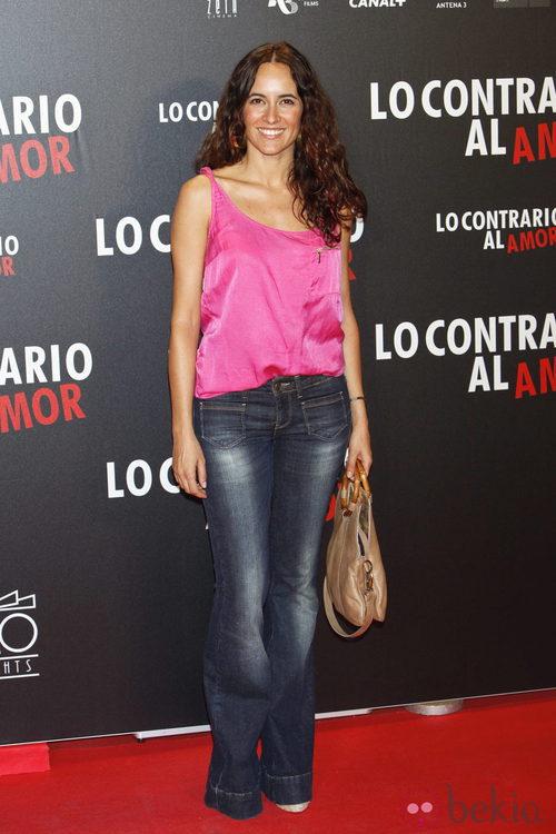 Ana Turpín en el estreno de 'Lo contrario al amor' en Madrid