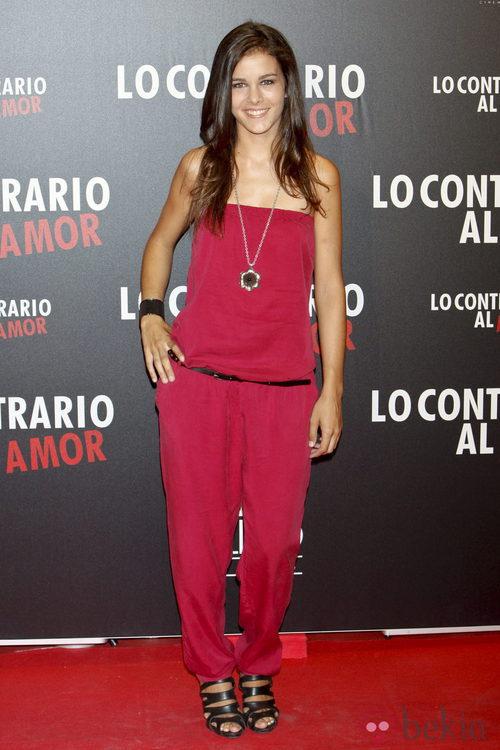 Sandra Blázquez en el estreno de 'Lo contrario al amor' en Madrid