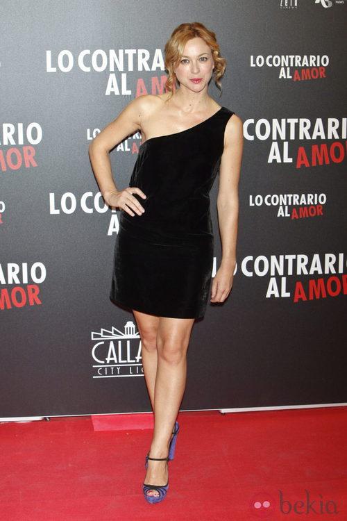 Marta Hazas en el estreno de 'Lo contrario al amor' en Madrid