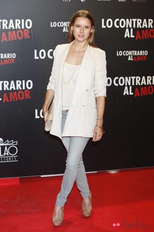 Manuela Vellés en el estreno de 'Lo contrario al amor' en Madrid