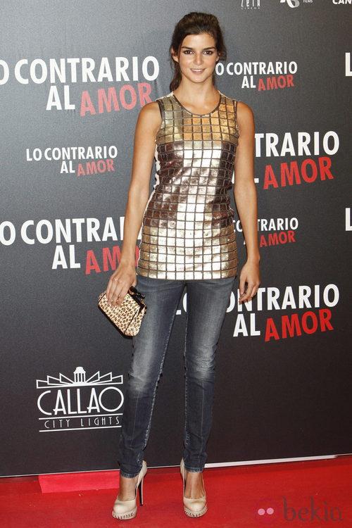 Clara Lago en el estreno de 'Lo contrario al amor' en Madrid