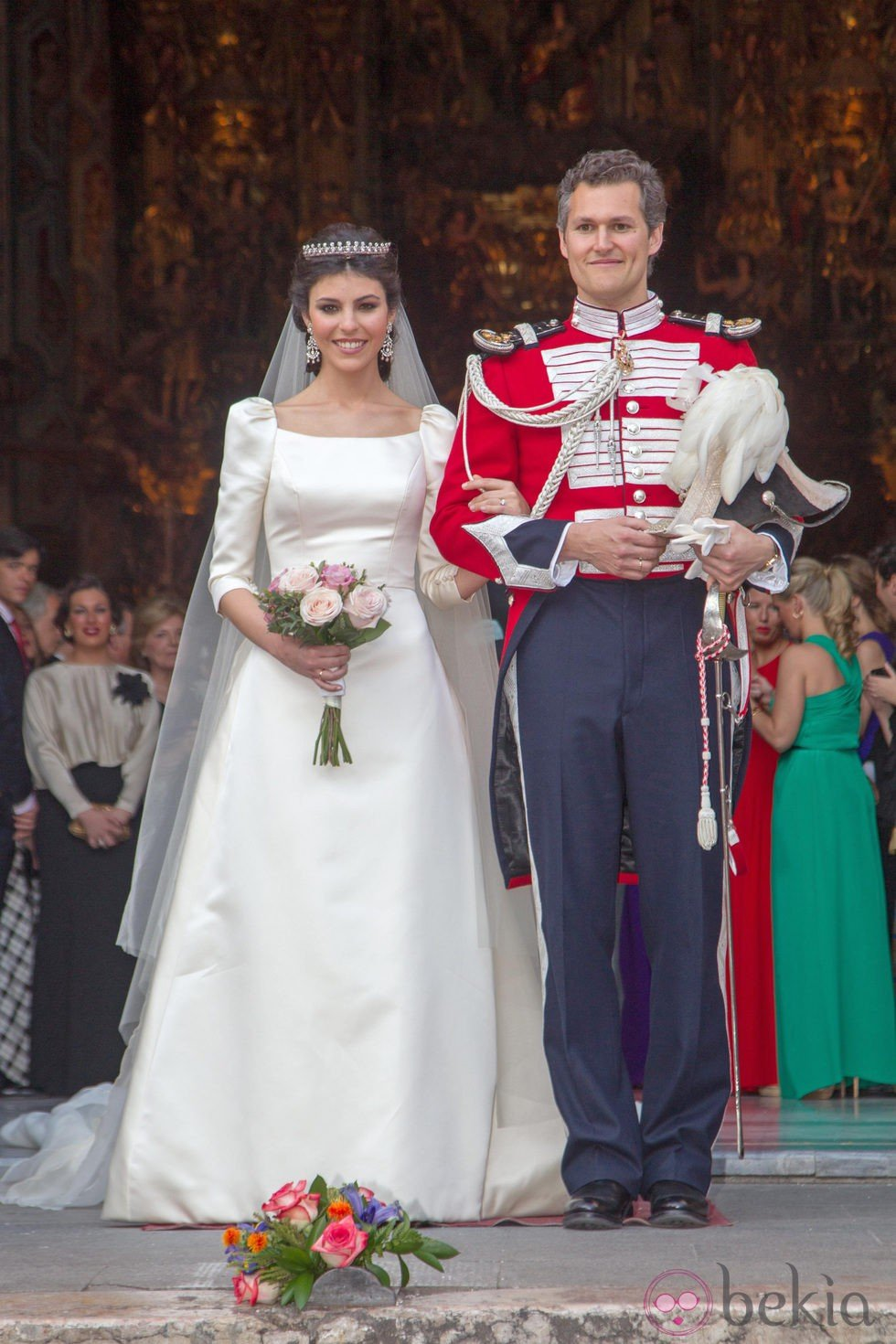 Olivia de borb n juli n porras weddings celebrity for Julian alexander wedding dresses