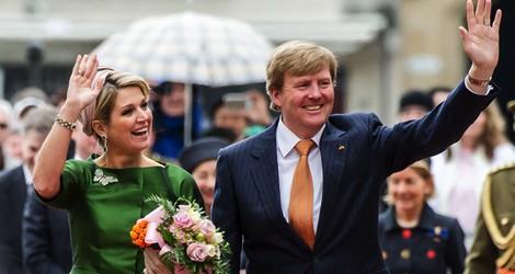 Guillermo Alejandro y Máxima de Holanda a su llegada a Luxemburgo