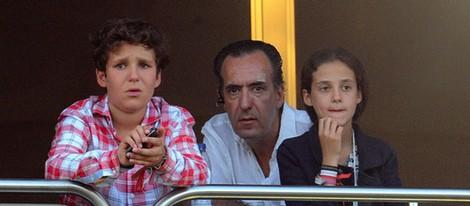 Jaime de Marichalar y sus hijos Froilán y Victoria en el Torneo de Polo de Sotogrande 2013