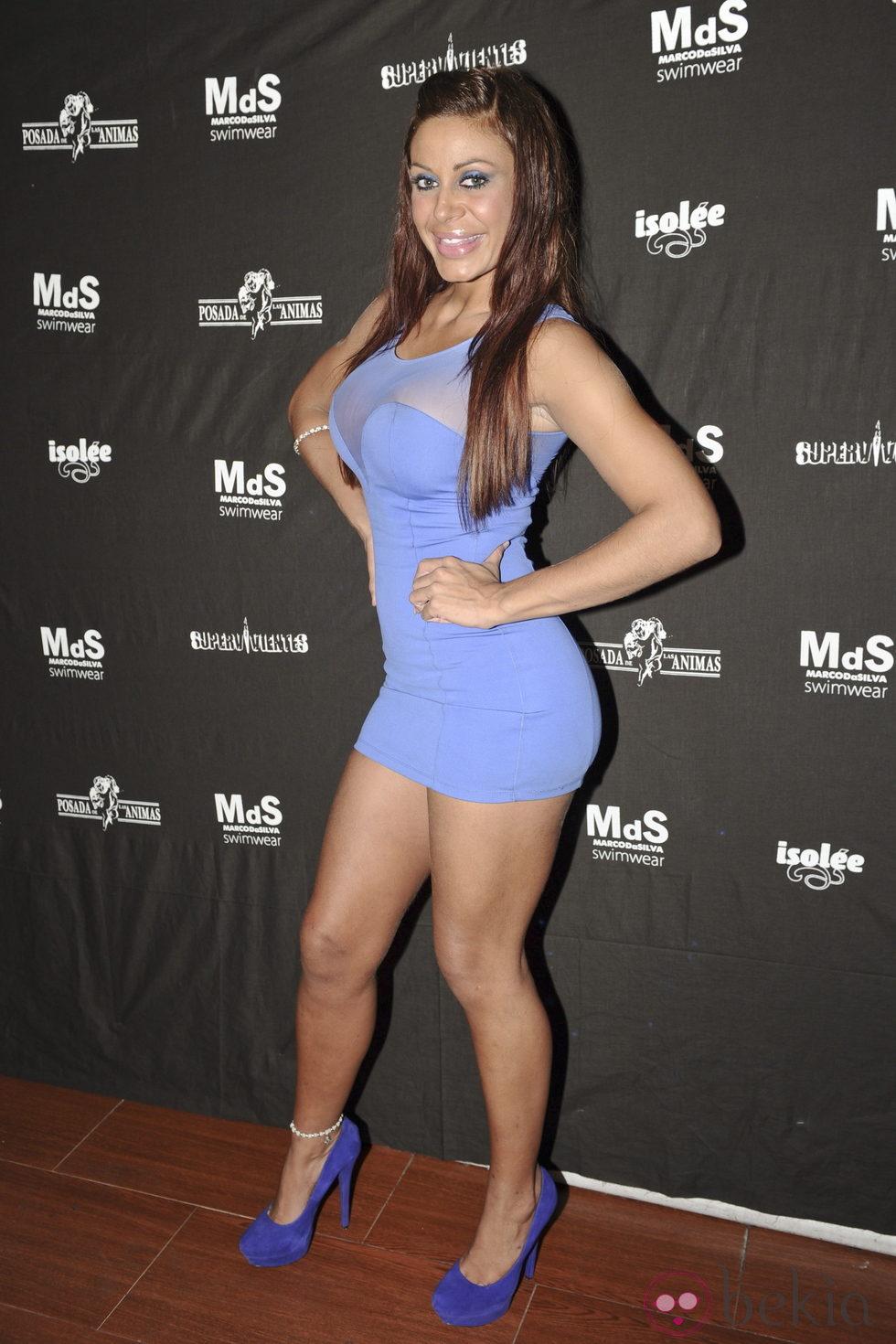 Tatiana Delgado durante una fiesta de 'Supervivientes' celebrada en