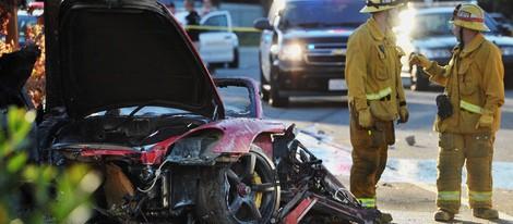 Así quedó el coche en el que murió Paul Walker