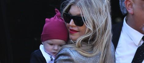 Fergie con su hijo Axl Jack el Día de Navidad