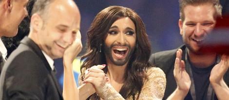 Conchita Wurst, emocionada al descubrir que es la ganadora de Eurovisión 2014