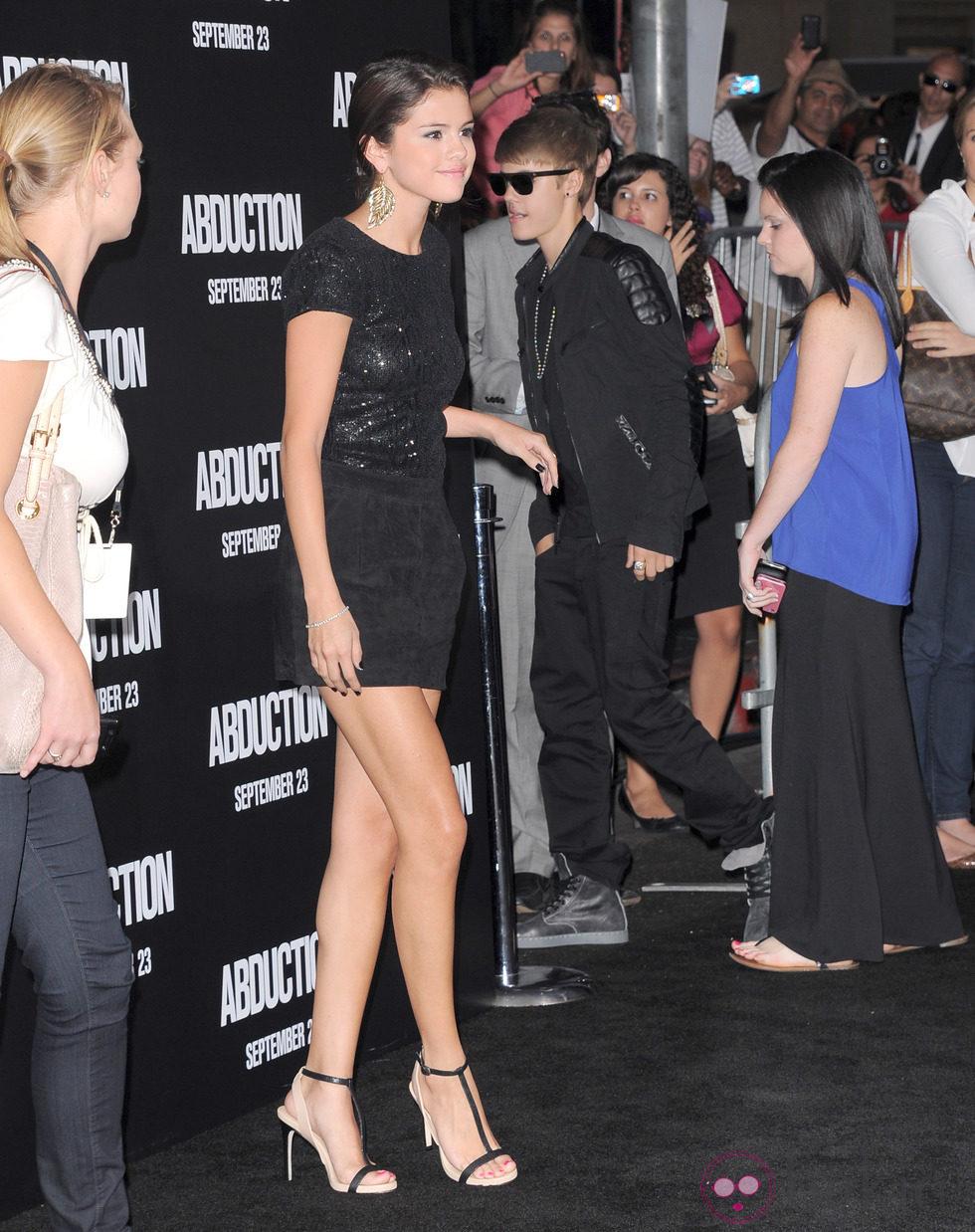 Justin Bieber y Selena Gómez juntos en el estreno de la nueva