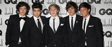 One Direction en los Premios GQ Hombre del año 2011