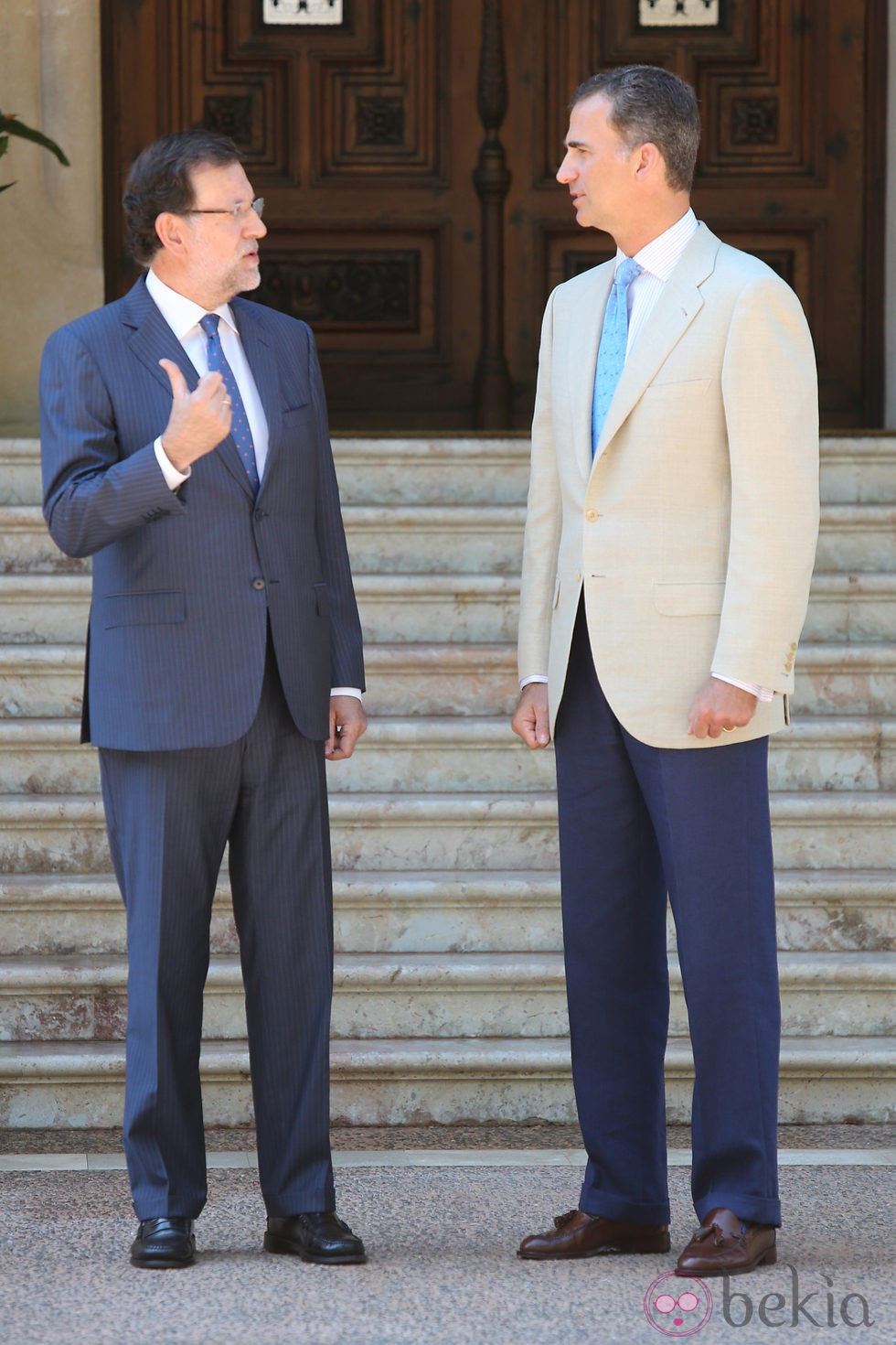 ¿Cuánto mide Mariano Rajoy? - Altura - Real height 61896_mariano-rajoy-rey-felipe-intercambian-paabras-llegada-entrada-palacio-marivent