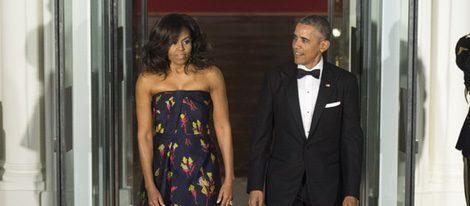 Barack Obama y Michelle Obama en la cena de gala ofrecida al Primer Ministro de Canadá