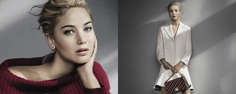 Jennifer Lawrence protagoniza la mayorái de las campañas textiles, de accesorios y cosmética