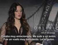 Entrevista exclusiva con la actriz de 'Oblivion' Andrea Riseborough