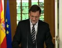 Mariano Rajoy anuncia la abdicación del Rey Juan Carlos en favor del Príncipe Felipe