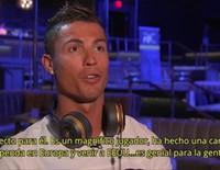 Cristiano Ronaldo se enfada en una entrevista y se va