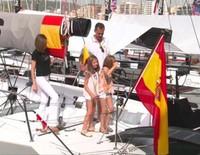 La Reina Letizia, la Princesa Leonor y la Infanta Sofía se despiden de Mallorca