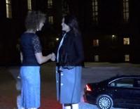 Sofia Hellqvist presume de embarazo en una entrega de premios