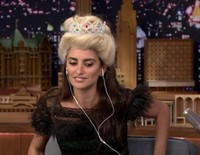 Penélope Cruz y Jimmy Fallon hacen un Dubsmash de 'Frozen' en 'The Tonight Show'