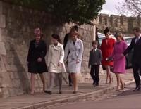 La triste Misa de Pascua de la Familia Real Británica