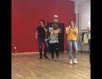 Fórmula Abierta ensayando el baile de 'Te quiero más' para el concierto de 'OT: El Reencuentro'