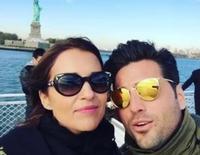 David Bustamante canta 'Tatuaje' de Concha Piquer junto a Paula Echevarría en Nueva York